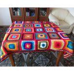 """Ръчно плетено одеяло """"Бъдни вечер"""""""
