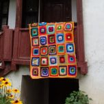 """Плетено одеяло на една кука """"Циганско лято"""""""