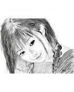 Дигитална графика на момиче, Летен спомен