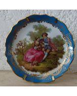 Декоративна чиния, ръчно рисуван костен порцелан, Limoges Castel