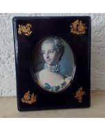 Рамка за снимка от костен порцелан и позлата Limoges Castel