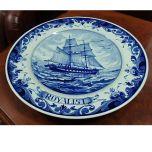 Колекционерска  чиния Royalist, порцелан Blue Delft
