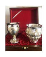 """Луксозен сребърен комплект """"Чаши на боговете и тракийската принцеса"""""""