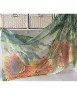 Голям ръчно рисуван шал, Слънчогледи