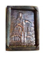 Александър Невски-1, картина от кована мед