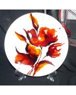 Декоративна керамична чиния, Макове