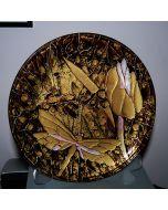 Декоративна чиния, стъклопис, Ребус