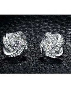 Същност и безкрайност, сребърни обеци с диамант