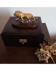 Позлатен лъв, малка пластика