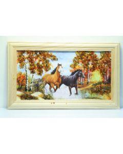 Картина с естествен кехлибар, Бяг