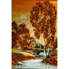Картина с естествен кехлибар, Лятна утрин