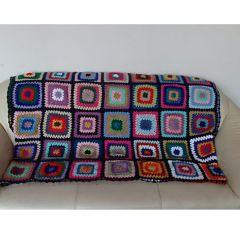 Ръчно плетено одеяло, Тъмно син фон