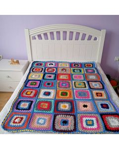Многоцветно, ръчно плетено одеяло, Релакс
