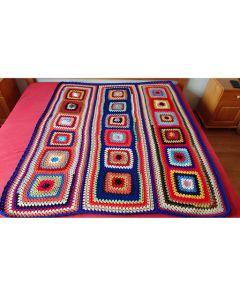 Ръчно плетено одеяло, Кралско синьо настроение