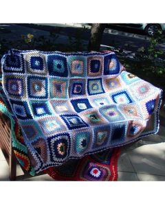 Ръчно плетено одеяло, Синева