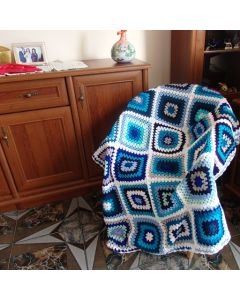 "Ръчно плетено одеяло ""Зима"""