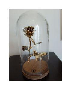 Позлатена естествена роза, средна
