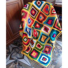 """Ръчно плетено одеяло """"Лято"""""""