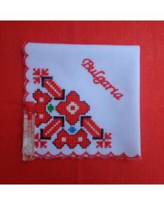 Кърпичка с бродирана шевица, България