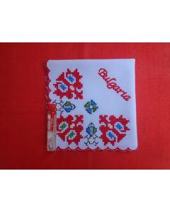 Кърпичка с бродирана българска шевица, Природа
