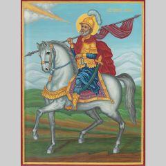 Икона на Св. Мина на кон