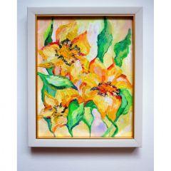 Акрилна живопис, Жълти, пролетни