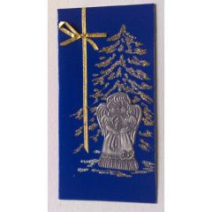 Коледна картичка Ангел под елхата