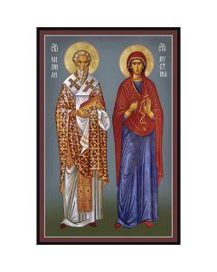Икона на Св.Св. Киприан и Иустина