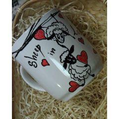 Рисувана чаша овце