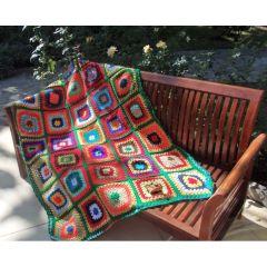"""Ръчно плетено одеяло """"Царска приказка"""""""