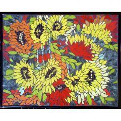Мозайка,Слънчеви цветя