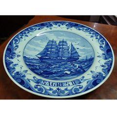 Колекционерска  чиния Sagres II, порцелан Blue Delft