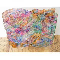 Декоративна чиния от рисувано стъкло, Цветен калейдоскоп
