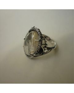 Сребърен пръстен с кварц рутил