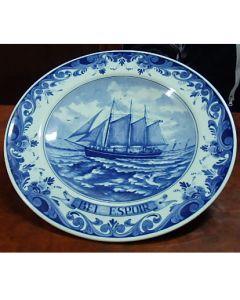 Колекционерска чиния Bel Еspoir, Blue Delft, серия Regina