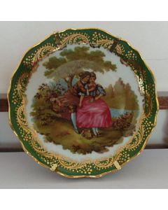 Колекционерска чинийка костен порцелан, Limoges Castel