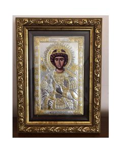 Чудотворната Фануилска икона на св. Георгий, сребро