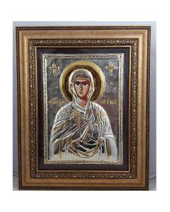 Икона на Св. Петка, посребрена и позлатена