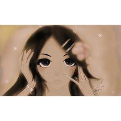 Картина, аниме, момиче