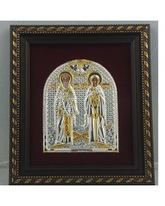 Икона на Свети свещеномъченик Киприан и света мъченица Юстина
