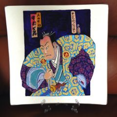 Рисувана керамична чиния Самурай - 2