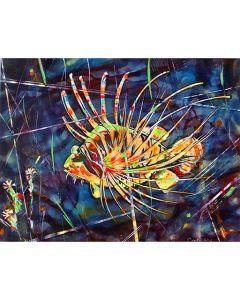 Картина, Малка лъвска тропическа риба