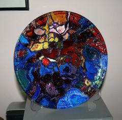 Ръчно рисувана чиния -  Космос