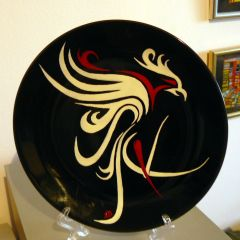 Жар птица на Победата, рисувана керамика