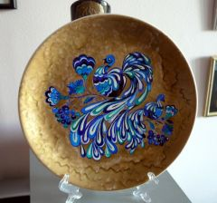 Рисувана керамична чиния Сини птици, Изобилие