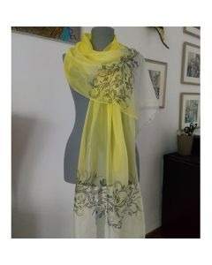 Рисуван шал от естествена коприна, Изящност