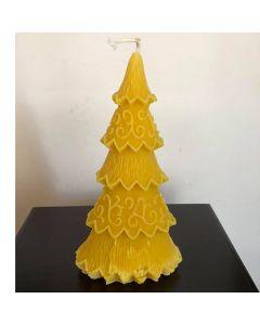Голяма Коледна елха, свещ от натурален пчелен восък