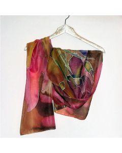 """Ръчно рисуван шал """"Ириси"""""""