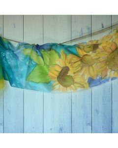 Ръчно рисуван шал, Слънчогледи
