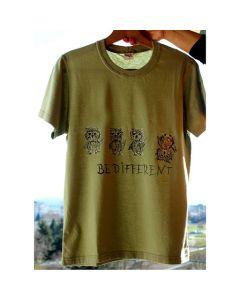 Ръчно рисувана тениска Бухльо, бъди различен
